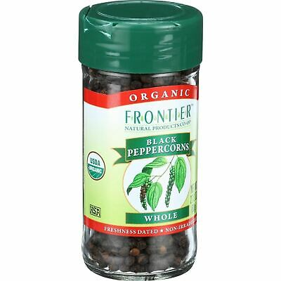Frontier Herb Peppercorns - Organic - Whole - Black - 2.12 Oz