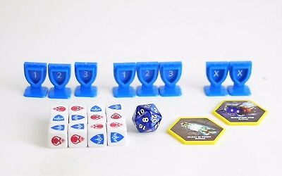 HEROSCAPE MARVEL GAME SYSTEM REPLACEMENT PARTS PIECES - Order Markers 12 Dice...