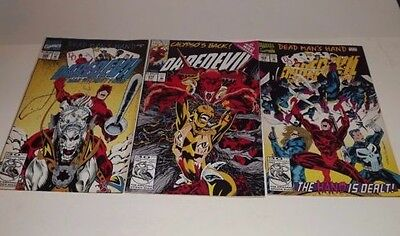 Marvel Daredevil comic lot of 3!! Issues 308, 309, and 310