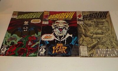 Marvel Daredevil comic lot of 3!! Issues 314, 315, and 316