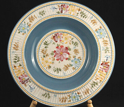 "Extra Large Decorative Bowl ""Villa Flora"" Hand Painted Collection Made in China"