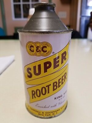 Super Coola Root Beer Cone Top Can