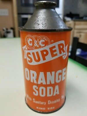 Super Coola Orange Soda Cone Top Can