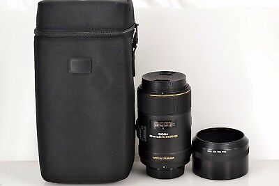 Excellent SIGMA 105mm F/2.8 DG MACRO HSM OS for Nikon with Hood From Japan