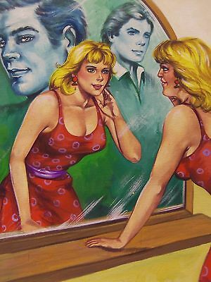original PAINTING MEXICAN PULP comic DIGEST COVER MIRROR MIRROR on the wall
