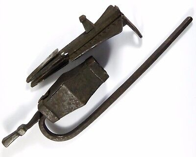Very Old 1700s  Antique Lock Hand Forged Iron for Large Doors Works LAYBY AVAIL