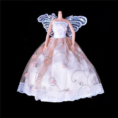 Handmade Fairy Costume Princess Dress Butterfly Clothes For Barbie Doll Gift、Fad