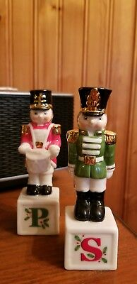Lenox Porcelain Nutcracker Soldier Salt Pepper Shakers