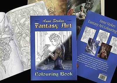 Anne Stokes Gothic Fantasy Art  Fairy, Dragon,  Colouring Book