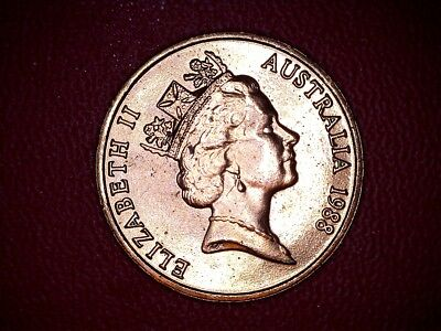 1988 One Cent Uncirculated Coin Australian