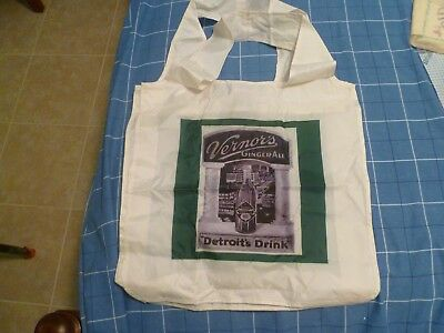 Beautiful VERNOR'S Carry All Bag Stunning Graphics NEW