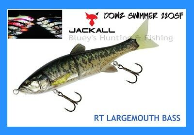 Jackall DOWZ swimmer 220sf swim bait jointed Cod lure; RT Largemouth Bass