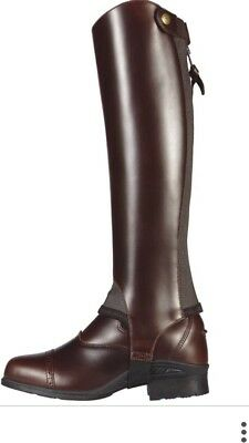 ** Brand New Ariat Half Chaps Chocolate / Brown Size SS **