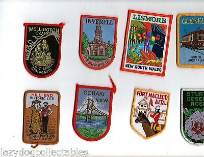 Australian Souvenir Travel Patches  x 8 Unused Lot #  11
