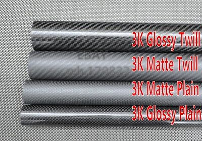 3k Carbon Fiber Tube OD 40MM 42MM 44MM 45MM 46MM 50MM 60MM X 1000mm Roll Wrapped
