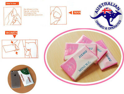 4 X Portable Pee Urine Toilet Bag Travel Camping Unisex Kid Patient Elder Care
