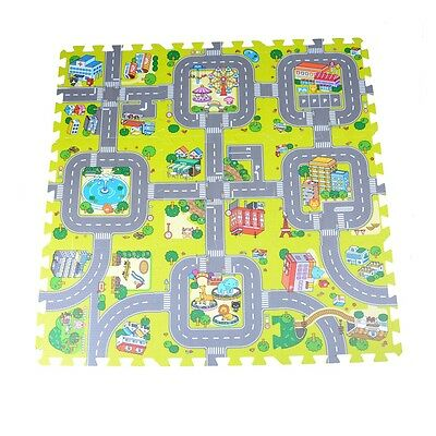 9pcs Traffic Route Kids Soft EVA Foam Puzzle Education Floor Play Mats*v*
