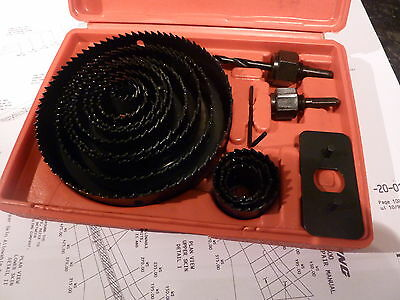 hole saw cutter set aircraft tools sheet metal drills steel, alloy, cabin panel