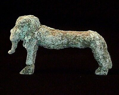 EGYPTIAN Ancient Artifact - Bronze VOTIVE STATUE / STATUETTE Circa 700-500 BC