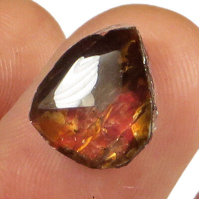 1.2CT Natural Canadian Ammonite Ammolite Fossil Cab Ready For Setting MSJA439