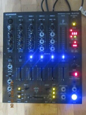 Behringer Djx750 Professional Dj Mixed Lights Up Untested