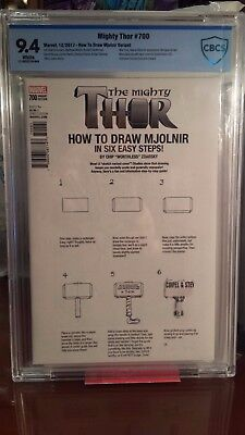 Mighty Thor #700 CBCS NOT CGC 9.4 Zdarsky How To Draw Mjolnir Variant Misprint