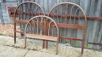 3 Vintage Mahogany 3ft Bed Ends