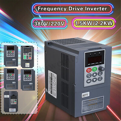 1.5KW 2.2KW VFD Inverter Variable Frequency Drive CNC Speed Control 1 To 3 Phase