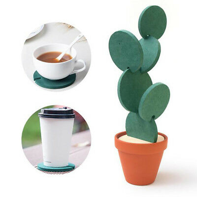1Pcs Decoration Potted Mat Cup Coasters Novelty Table DIY Cactus