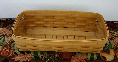 LONGABERGER Collectible Rectangle Basket With Protector 2005