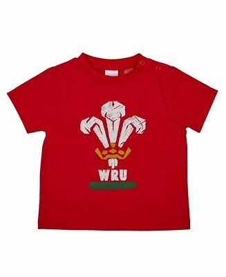 Wales WRU Rugby Baby / Toddler Large Crest T-Shirt | 6 Nations | 2017/18 Season