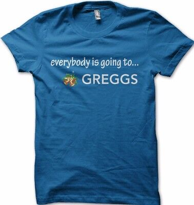 Everybody is going to Greggs sausage manger funny Christmas t-shirt FN9226