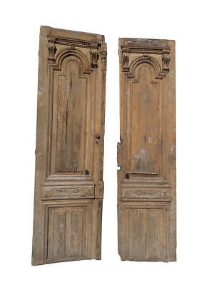 Pair of Antique European Architectural Doors Large French Exterior Doors Farmhou