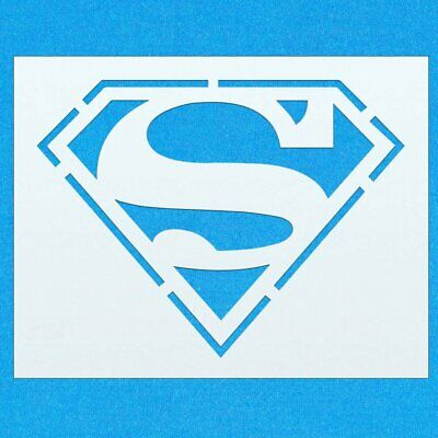 Superman Character Logo Sign Mylar Airbrush Painting Wall Art Crafts Stencil