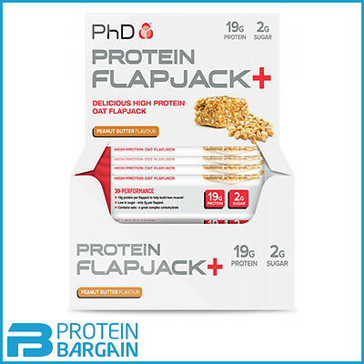PHD Nutrition Protein Flapjacks 12 x 75 Gram Protein Oats Bars Amazing Price