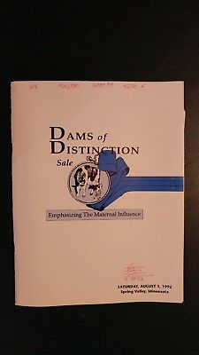 Dams & Sires Of Distinction Holstein Sale Catalog 1992 Spring Valley Minnesota