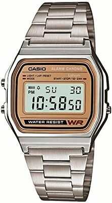 Casio Men's Watch Standard Digital Gold Dial A-158WEA-9JF Water Resist 33.2mm