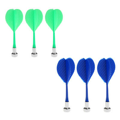 3Pcs Magnetic Darts Set Indoor Game Safety Replacement Dart Royal Blue Green