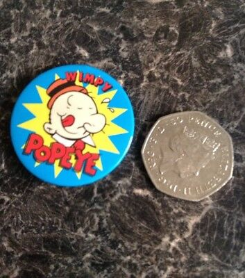 Popeye Wimpy 1990's King Features Pin Badge Popeye Cartoon Character