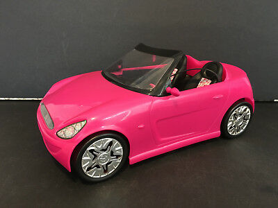 2009 Mattel Barbie Glam Convertible Pink Car #1072