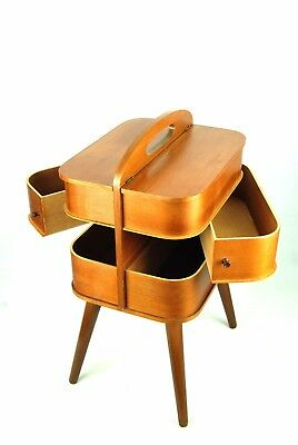 Mid Century SEWING Storage BOX Danish Modern Vintage Wegner Luxus 50s 60s Era