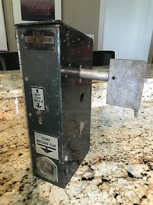 Rare Hard To Find Ideal Glasco 55 Slider Cooler Coin Mechanism With Key Coin Box