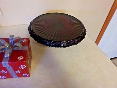 Vintage Avon 1876 Ruby Red Cape Cod Pedestal Cake Plate Stand