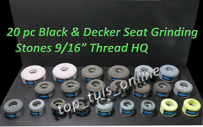 "20 x VALVE SEAT GRINDING STONES BLACK & DECKER 9/16"" X 16 TPI THREAD BRAND NEW"