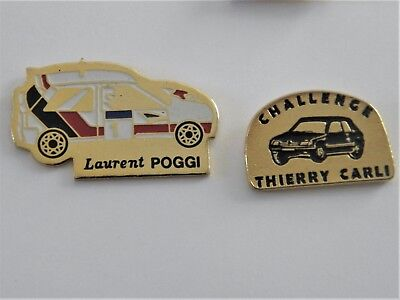 Pins  Corse  Automobile  Rallye  2 Pins  Differents