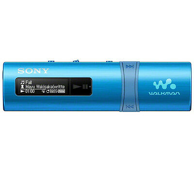 NEW SONY Walkman B183 4 GB MP3 Music Sound Player - Blue -3-minute quick charge