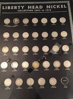 Complete 1883-1912 Liberty Head Nickels Collection Key Dates: 1885,1886,1912S.