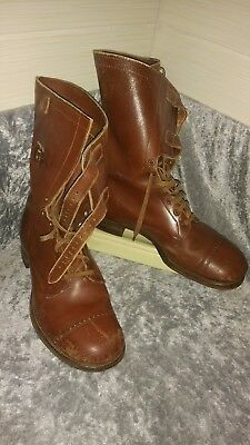 WW2 WWII ORIGINAL US army boots size 9 EE