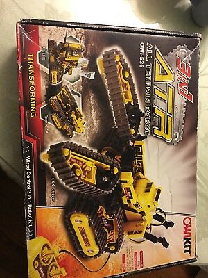 Owi 3 in 1 ATR: All Terrain Robot Kit 536 Building Robotics Construction Vehicle