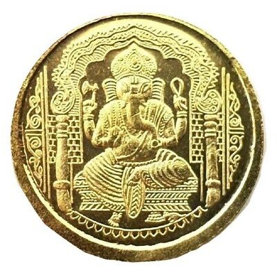 Yantra Coin HINDU GOLD GANESHA OM GANESH SHRI SHREE YANTRAM LUCK CHARGED